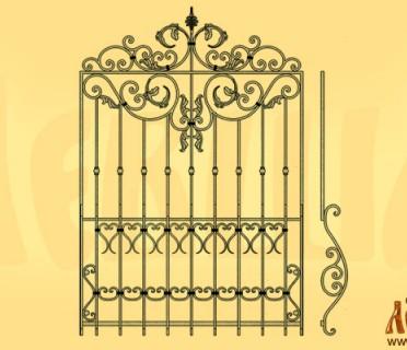 Эскиз кованой решетки 1020