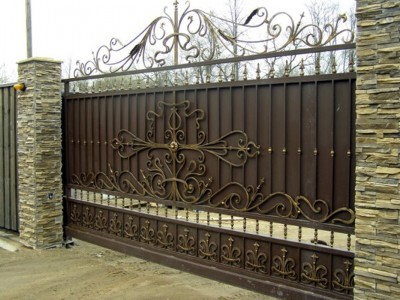 Ворота кованые ВК54
