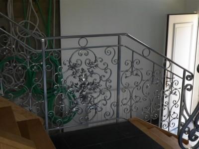 Кованые перила лестничные ПЕРК 142