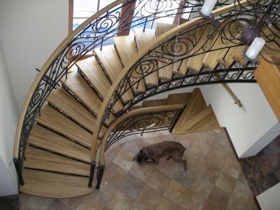 Кованая лестница КЛ04