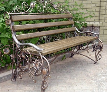Кованая скамейка ЛАВ6