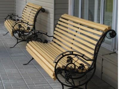 Кованая скамейка ЛАВ7