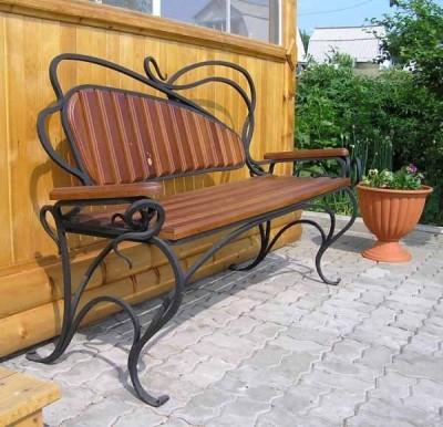 Кованая скамейка ЛАВ10