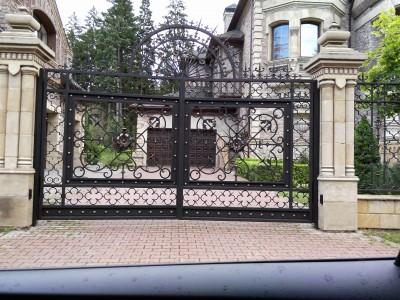 Кованые ворота ВК64