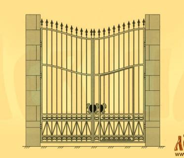 Эскиз кованых ворот 5010