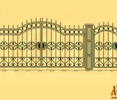 Эскиз кованых ворот 5014