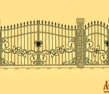 Эскиз кованых ворот 5016