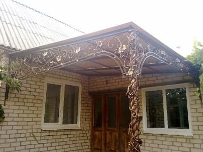 Козырек кованый КЗК19