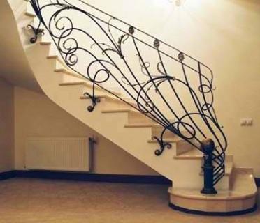 Кованые перила лестничные ПЕРК131