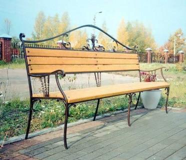 Кованая скамейка ЛАВ12