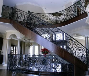 Кованые перила лестничные ПЕРК10