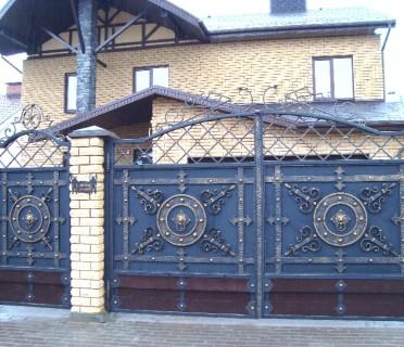 Ворота кованые ВК12