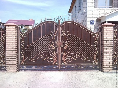 Ворота кованые ВК27