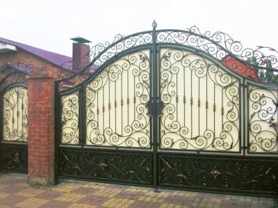Кованые ворота ВК76