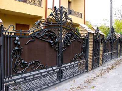 Кованые ворота ВК80