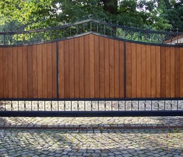 Ворота кованые ВКД04